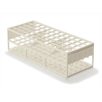 Laboratory Test Tube Racks for 17mm Test Tubes, White 2 pk