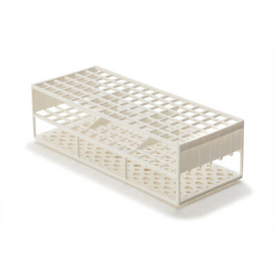 Laboratory Test Tube Racks for 13mm Test Tubes, White 2 pk