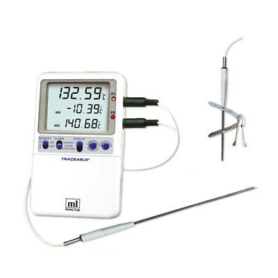 Traceable Platinum Hi-Accuracy Thermometer Handle Probe Model 1 ea