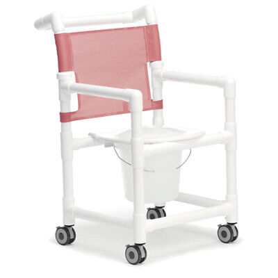 Shower/Commode Chair Standard with Plastic Seat 1 ea