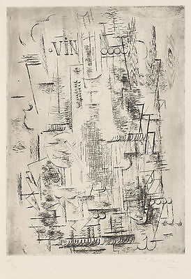 Georges Braque Etching Reproduction: Bass, 1911 - Fine Art Print