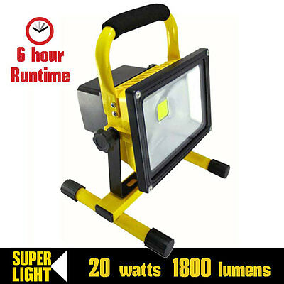 Powerful Portable Work-Light 20 watts LED. Rechargeable. Waterproof. Cordless.