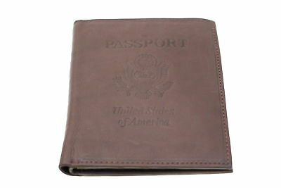 Mens Euro Hipster Wallet Bifold Passport Cover Embossed Genuine Leather New
