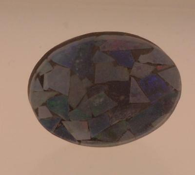 loose natural gemstone 7.44ct mosaic opal 18.05 x 13.37 x 3.43mm oval shape