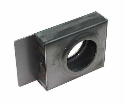 "Gate Lockbox Single Hole Weldable Steel 3 1/2"" x 4 1/4"" x 1 1/4"" Unpainted"