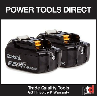 New Makita 18V Battery Lxt Cordless Bl1830B Batteries X 2 Off With Fuel Guage
