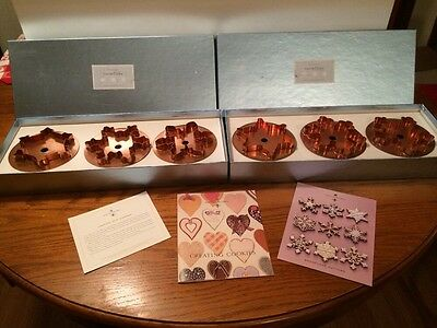 Martha Stewart By Mail Copper Cookie Cutter Snowflakes Set 1 & 2 New Box More