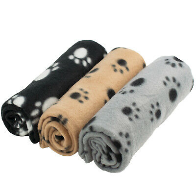 DIGIFLEX 3 x Large Dog Cat Pet Soft Fleece Blankets 68cm X 92cm