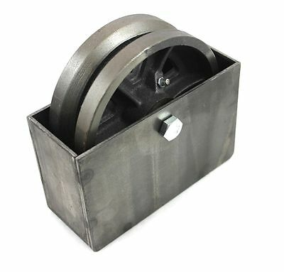 "6"" Cast Iron V-Groove Wheel With Weldable Steel Box For Sliding/Rolling Gate"