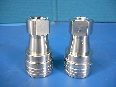 LOT of 2: NEW MACHINE VT-20, High Pressure Rc 3/8 Coupler