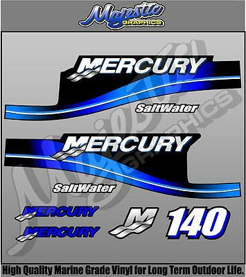 MERCURY 140hp SALTWATER - DECAL KIT - OUTBOARD DECALS