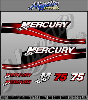MERCURY 75hp - DECAL KIT - OUTBOARD DECALS