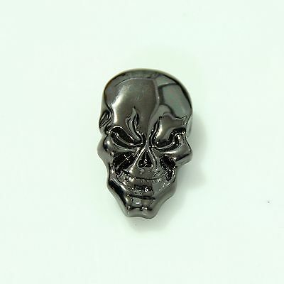 【KB703】1-1/8''(2.8cm) Western Skull Concho Screwback Leathercraft Gunmetal