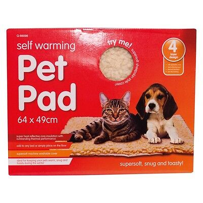 Self Heating Thermal Cat Dog Puppy Animal Pet Warm Warming Washable Rug Bed