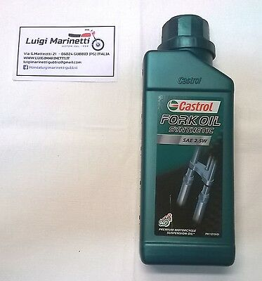 Olio liquido forcelle CASTROL FORK OIL sintetico synthetic SAE 2,5W - 500ml 0,5l