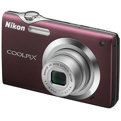 Nikon Coolpix S3000 Plum Compact Digital Camera USA