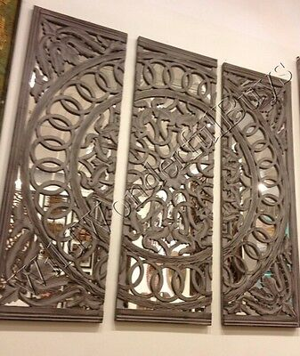 Large French Country Wood Embossed Medallion Wall Panel