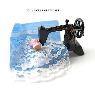 Sewing Machine with Accessories, Dolls House Miniature. Sew Room 1.12 Scale