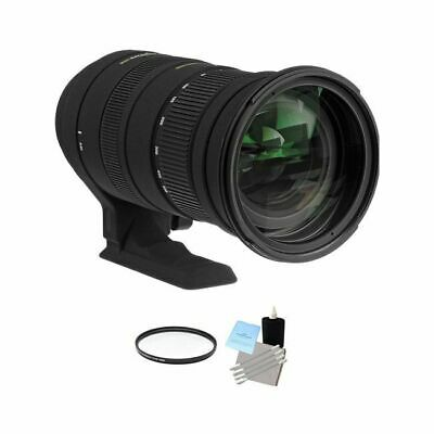 Sigma 50-500mm f/4.5-6.3 APO HSM Lens for Canon + UV Filter & Cleaning Kit