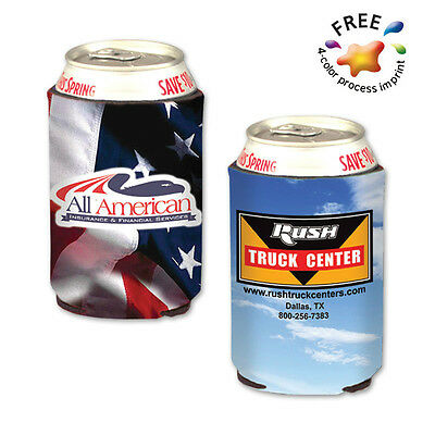 FULL COLOR POCKET CAN COOLERS - 250 quantity - Custom Printed with Your Logo