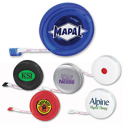 ROUND TAPE MEASURES - 250 quantity - Custom Printed with Your Logo