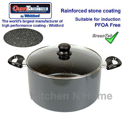 Non-Stick Casserole, Branded Stone coating, Induction, Stock Pot, Cookware