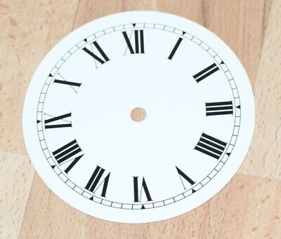 "NEW white clock dial 254mm 10"" aluminium Roman numeral  dials part clocks repair"