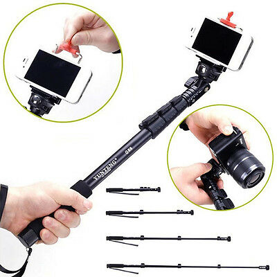 Extendable Handheld Monopod Tripod Adapter for iPhone 5S GoPro Camera Brand New
