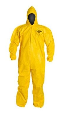 Dupont TYCHEM QC127 QC Bound Seam Yellow Work Coveralls 4X QTY 12