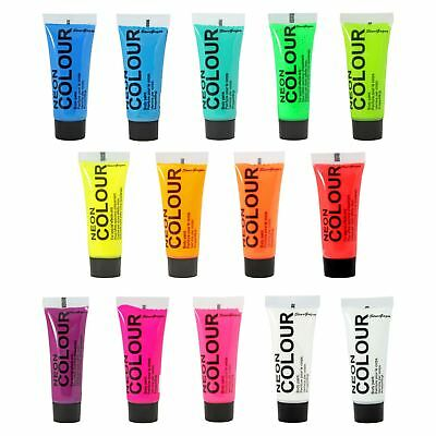Stargazer Face Body Festival Paint Neon Glow Metallic UV Bright In All Colours