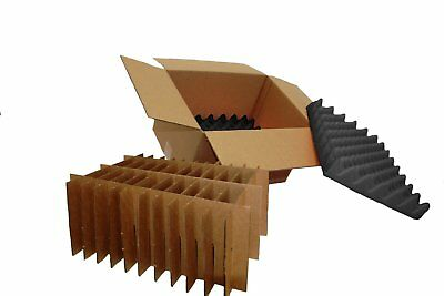 Hard Disk Drive Shipping Box - 20 Count Slotted Storage Container (6 PACK)