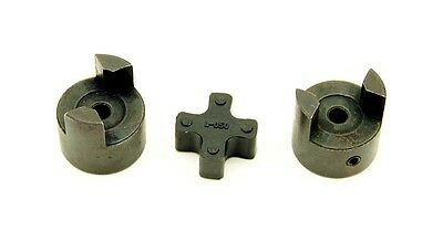 BLANK L050 Bore-To-Size Flexible 3-Piece L-Jaw Coupling Coupler Set & NBR Spider