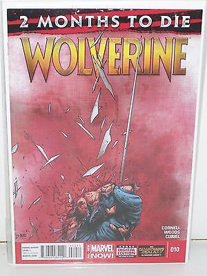 WOLVERINE #10 - 1st Print - PAUL CORNELL, WOODS - 2 Months to Die - MARVEL NOW