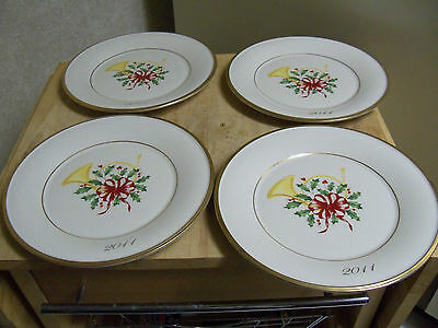 Set of 4 Lenox 2011 Annual Holiday Accent Plates - New with Tags - 1st in Series