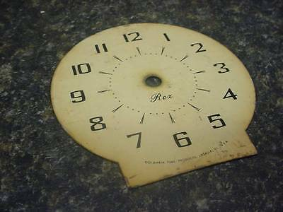 "Vintage Rex Alarm Clock Company 3 7/8 4 1/8"" Paper Replacement Cream Dial  E133J"