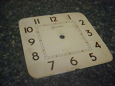 "Vintage Sessions Alarm Clock Company 5 1/4"" Replacement Cream Dial  E133e"