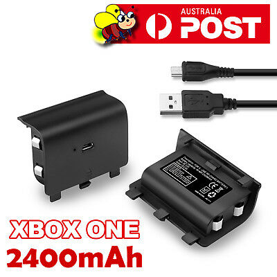 1200mAh Rechargeable Battery Pack + USB Charger Cable for XBOX ONE Controller