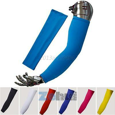8 Color Women Men Outdoor Sports Cycling UV Sun Protection Arm Sleeve Cover A76