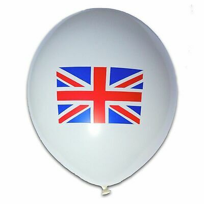 "10"" Printed Latex Balloons UK Flag - VE Day 75th / Celebration / Patriotic"