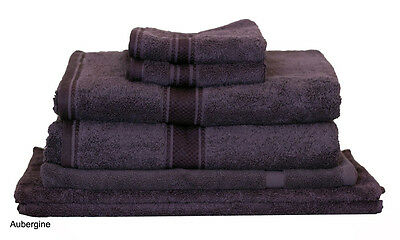 Aubergine Egyptian Cotton Bath Towel Range 7 Pieces Set or Single Pieces Choice