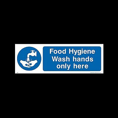 Wash hands only here - Plastic Sign or Sticker - All Sizes & Materials - (MISC1)