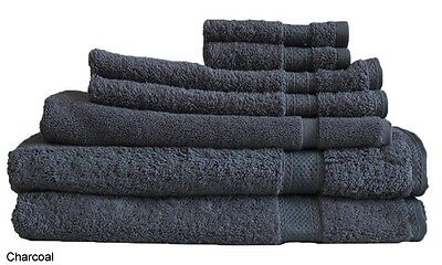 Charcoal Egyptian Cotton Bath Towel Range 7 Pieces Set or Single Pieces Choice