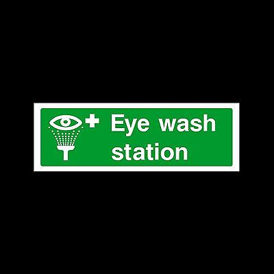 Eye Wash Station - Plastic Sign or Sticker - All Sizes/Materials - (FAID10)