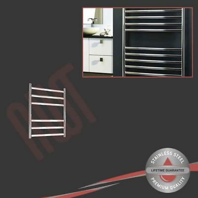 350mm(w) x 430mm(h) Polished Stainless Steel Towel Rail Radiator 484 BTUs