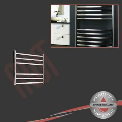 500mm(w) x 430mm(h) Polished Stainless Steel Towel Rail Radiator 624 BTUs