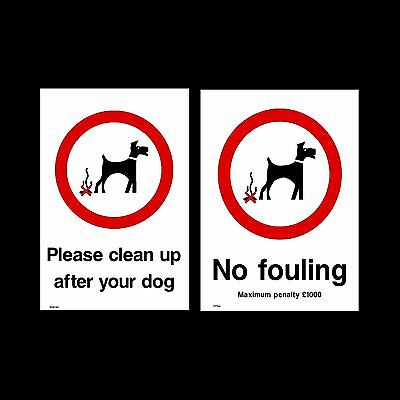Dog Fouling / Please clean it up - Plastic Sign or Sticker - All Sizes
