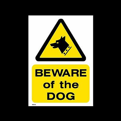 Beware of the Dog Plastic Sign or Sticker - All Sizes & Materials - (MISC60)