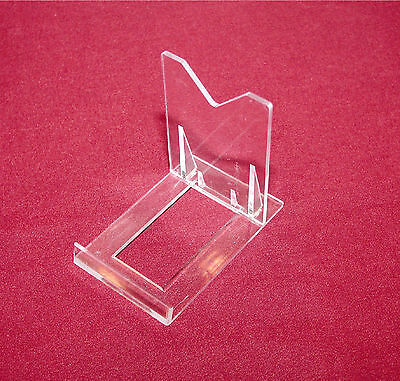 """5 Clear 3-1/8"""" Adjustable Display Stands Easel For Blotters"""