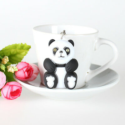 Panda Cat LED Make Sound and Light Lovely New Fashion Cute Key Ring Chain Gift