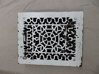 Antique Cast Iron Floor Wall Heat Grate Louvres Decorative Design Old 3805-14